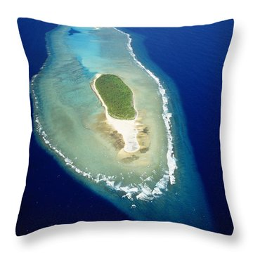 Losiep Atoll Throw Pillow by Mitch Warner - Printscapes
