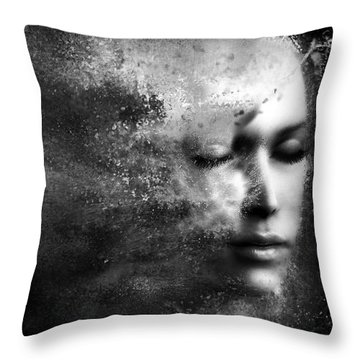 Losing Myself Throw Pillow