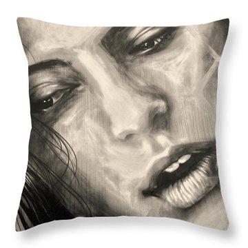Throw Pillow featuring the photograph Losing Sleep ... by Juergen Weiss
