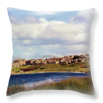 Lossiemouth Bay Throw Pillow