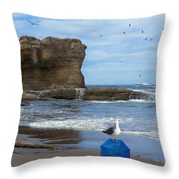 Lost And Found Throw Pillow by Diane Schuster