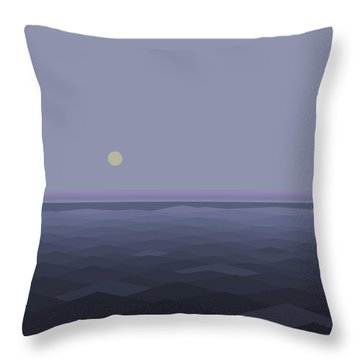 Throw Pillow featuring the digital art Lost At Sea - Square by Val Arie