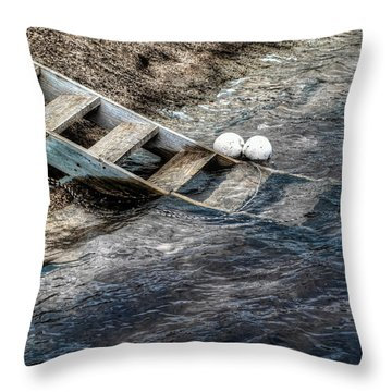 Throw Pillow featuring the photograph Lost Boys by Wayne Sherriff