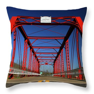 Lost Bridge Throw Pillow