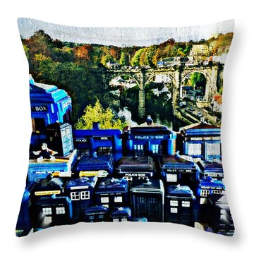 Lost City Of Time Throw Pillow