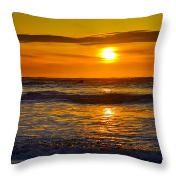 Lost Coast Sunset Throw Pillow