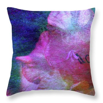 Lost Gladiolus Blossom 3018 L_2 Throw Pillow