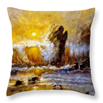 Lost In A Sunset.. Throw Pillow by Cristina Mihailescu