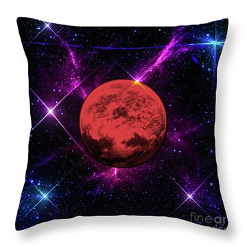 Lost In Space  Throw Pillow by Naomi Burgess