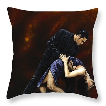 Lost In Tango Throw Pillow by Richard Young