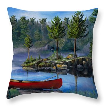 Lost In The Boundary Waters Throw Pillow