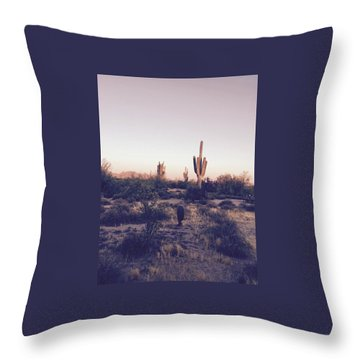 Lost In The Desert Throw Pillow