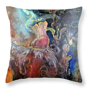 Lost In The Motion Throw Pillow