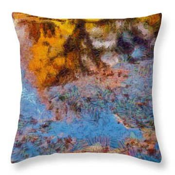 Lost In The Pond Throw Pillow