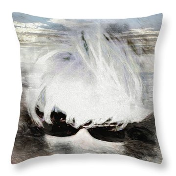 Throw Pillow featuring the photograph Lost In Thought by Pennie  McCracken