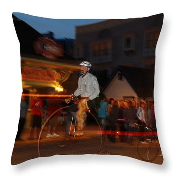 Lost In Time On Mackinaw Throw Pillow