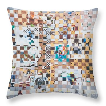 Throw Pillow featuring the mixed media Lost by Jan Bickerton
