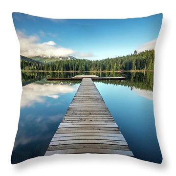 Lost Lake Dream Whistler Throw Pillow