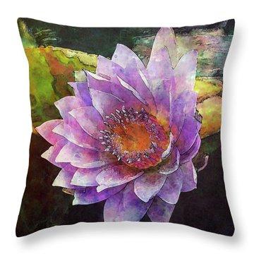 Lost Lavender Lotus Blossom 4725 Ldp_2 Throw Pillow