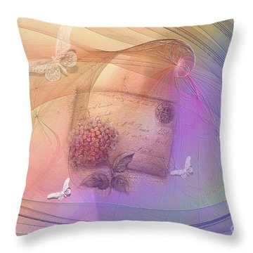 Lost Letter Throw Pillow