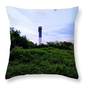Lost Lighthouse Throw Pillow