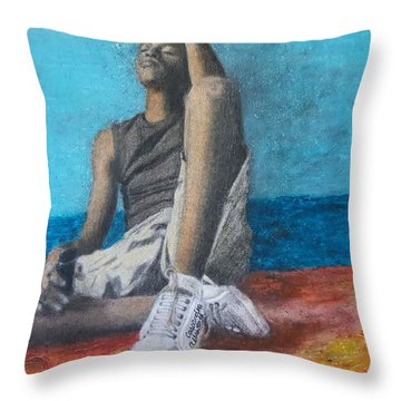 Lost Oasis Throw Pillow