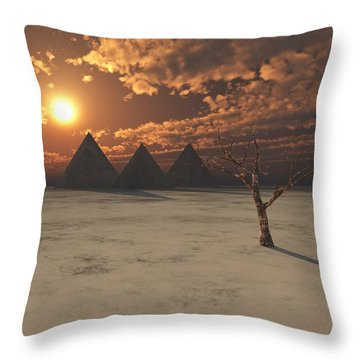 Lost Pyramids Throw Pillow