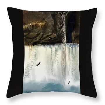 Lost River Throw Pillow by J Griff Griffin