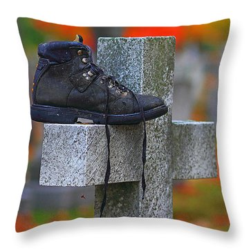 Lost Sole Throw Pillow