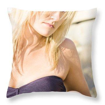 Lost Starfish Throw Pillow