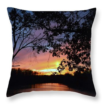 Lost Sunset Throw Pillow by J R Seymour