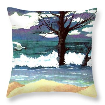 Lost Swan Throw Pillow