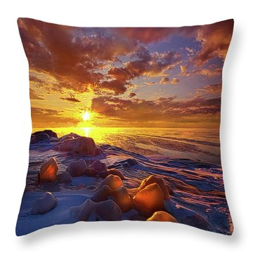 Throw Pillow featuring the photograph Lost Titles, Forgotten Rhymes by Phil Koch