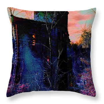 Lost Tower Of The Blue King Throw Pillow