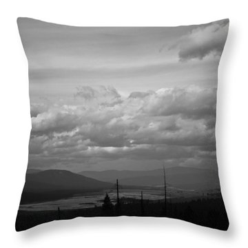 Lost Trail Wildlife Refuge Throw Pillow
