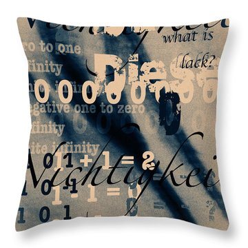 Lost--zero--nothingness Throw Pillow