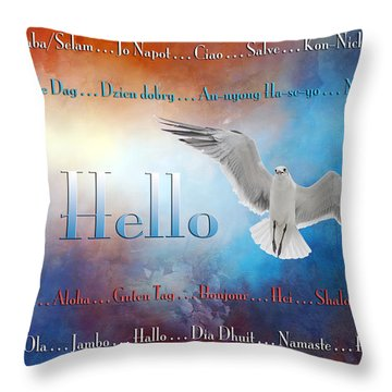 Lots Of Ways To Say Hello Throw Pillow