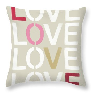 Throw Pillow featuring the mixed media Lots Of Love- Art By Linda Woods by Linda Woods