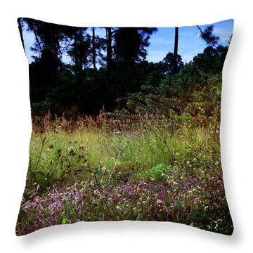 Lots Of Weeds Throw Pillow by Joseph G Holland