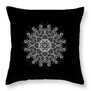 Lotus #1 Inverted Throw Pillow