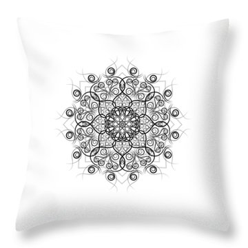 Lotus #1 Throw Pillow