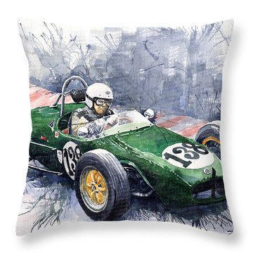 Lotus 18 F2 Throw Pillow by Yuriy  Shevchuk