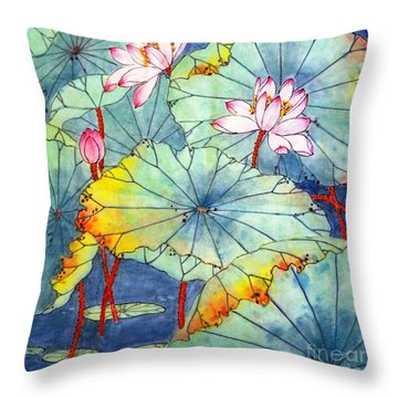 Lotus #2 Throw Pillow