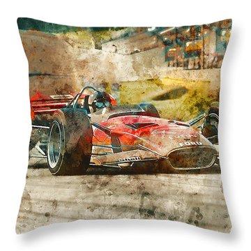Lotus 49 - 33 Throw Pillow