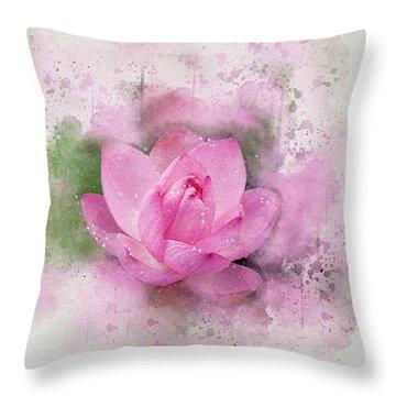 Lotus 7 Throw Pillow