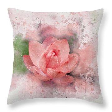 Lotus 8 Throw Pillow