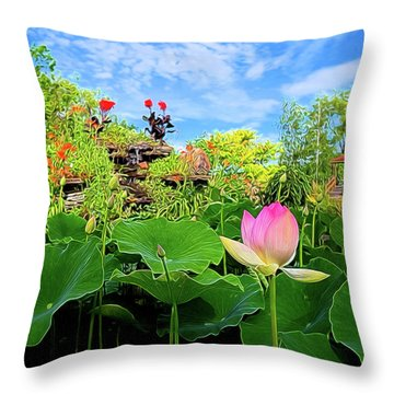 Lotus Alchemy Throw Pillow by William Horden