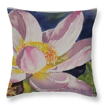 Lotus Bloom Throw Pillow