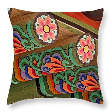 Lotus Beams Throw Pillow