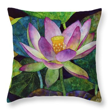 Lotus Bloom Throw Pillow by Hailey E Herrera